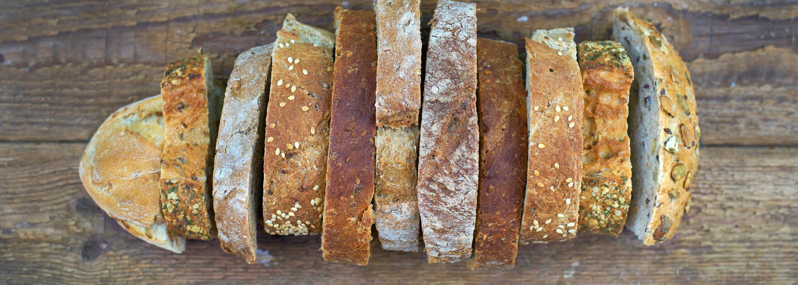 Abbildung Brotform aus unterschiedlichen Scheiben