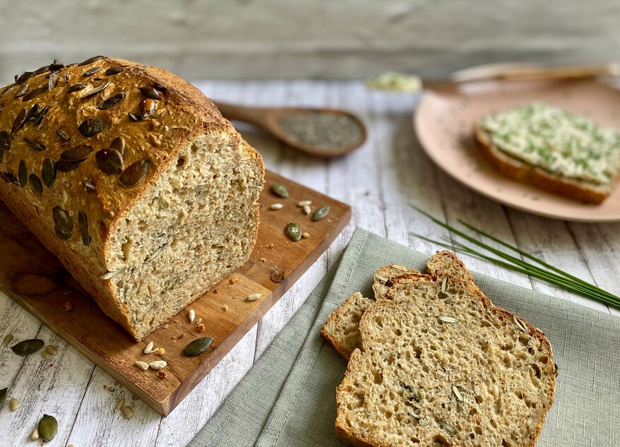 Picture Spelt bread with chia seeds