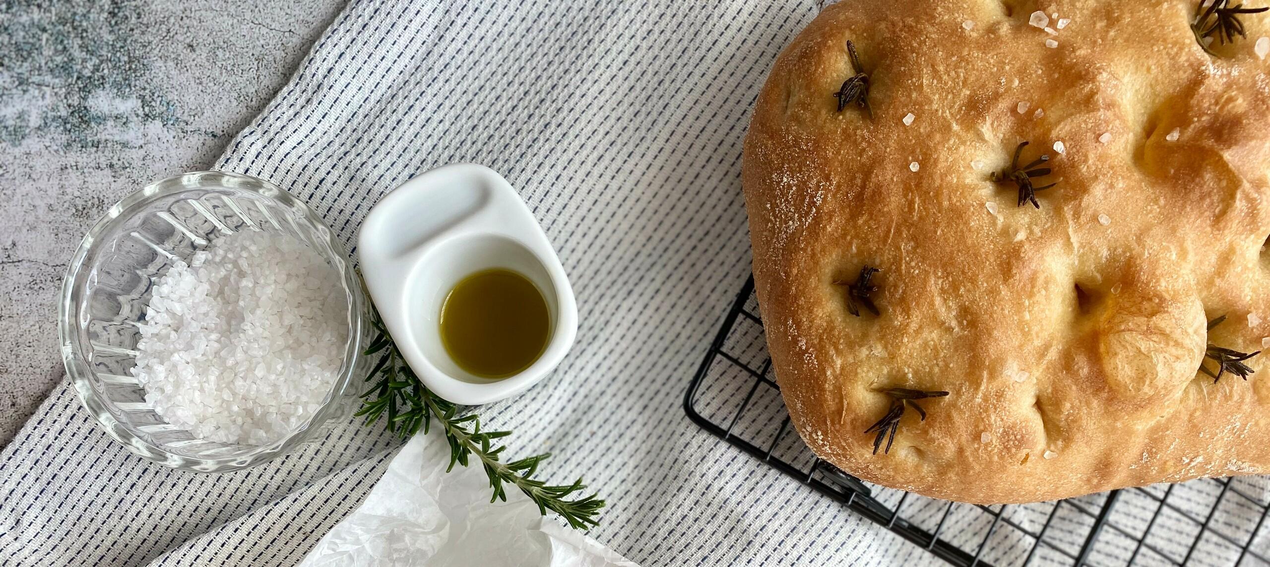 Abbildung Focaccia mit Olivenöl
