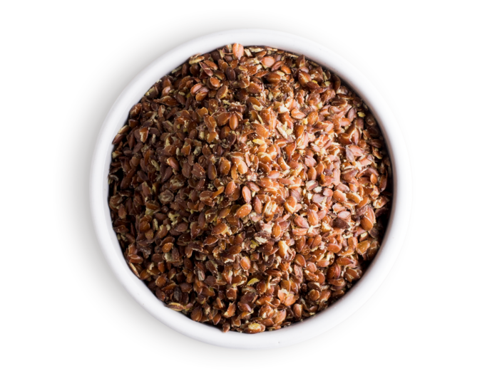 Picture organic flax seed grinded