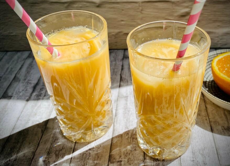 Abbildung Weizenkeim-Orangen-Buttermilch