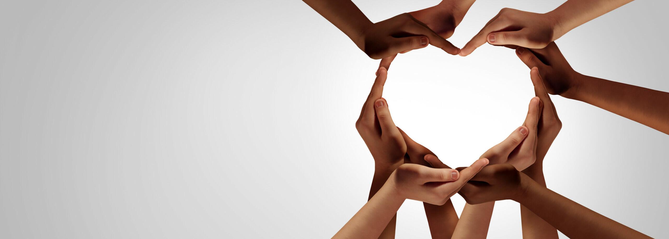 Abbildung Hände formen ein Herz