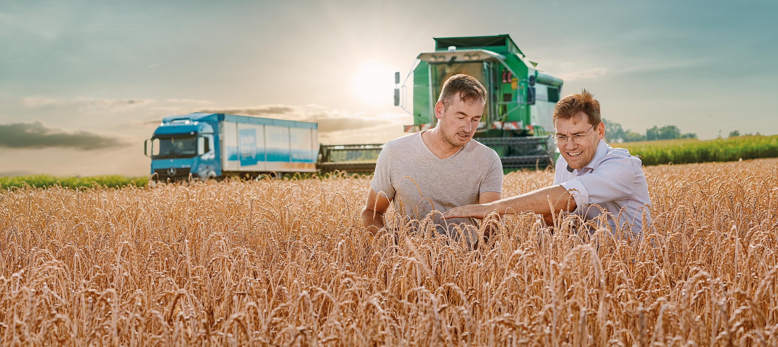 Picture Mr. Seibold and farmer in a field