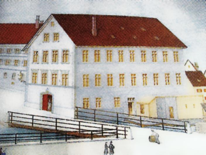Abbildung Mühle an der Blau um 1891